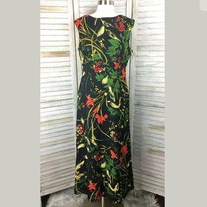 Maggy London Vtg. Floral Maxi Dress Sz 8